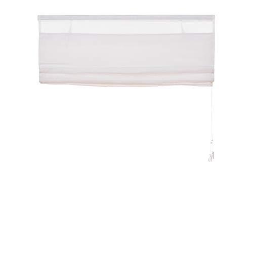 Fenster Raffrollo weiss / tageslicht Raffgardine Faltvorhang Montage ohne Bohren inkl Klemmträger viele Größen 40 / 45 / 50 / 60 / 65 / 70 / 75 / 80 / 90 / 100 / 110 / 120 x 130 oder 150 oder 220 cm (100×130 (B x H in cm)) - 8