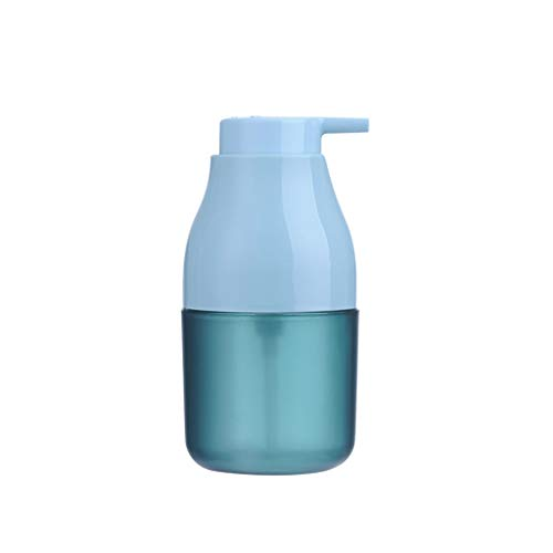 Cerámico Disepador de Jabón de Cerámica Shampoo Mano Desinfectante Embotellado Neto Celebridad Tipo de Empuje Limpiador Facial Botella de Espuma para Baño acero inoxidable (Color : Blue)