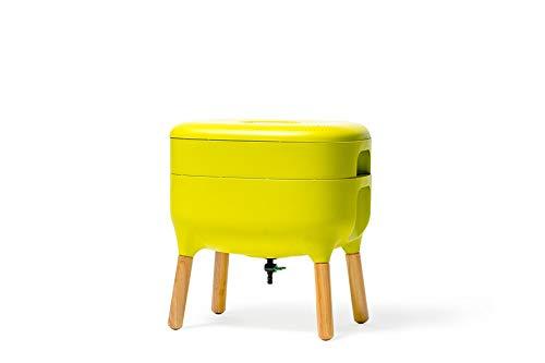 SUPERWURM Design-Komposter, Komposter, Wurmkomposter - Komplettset mit 0,5 Kg Kompostwürmer, Farbe:Hellgrün