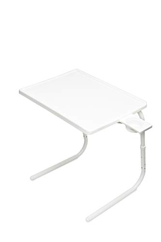 Table Mate II Folding TV Tray Table and Cup Holder with 6...