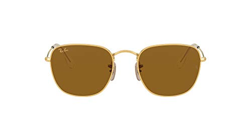 Ray-Ban RB3857 Frank Square Sunglasses, Legend Gold/Brown, 48 mm