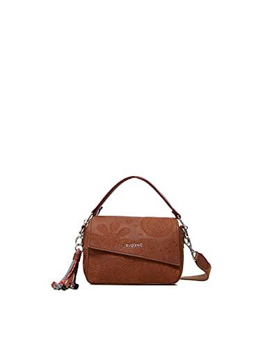 Desigual Bols_Deja VU Phuket Mini, Mano Bag para Mujer, marrón, Einheitsgröße