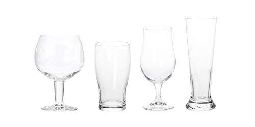 Your Castle - Set di 4 bicchieri da birra in cristallo