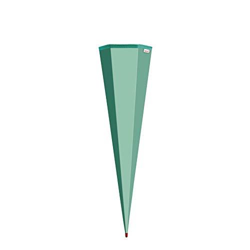 ROTH Schultüten-Rohling zum Basteln Mint - 85 cm 6-eckig - mit Rot(h)-Spitze ohne Verschluss