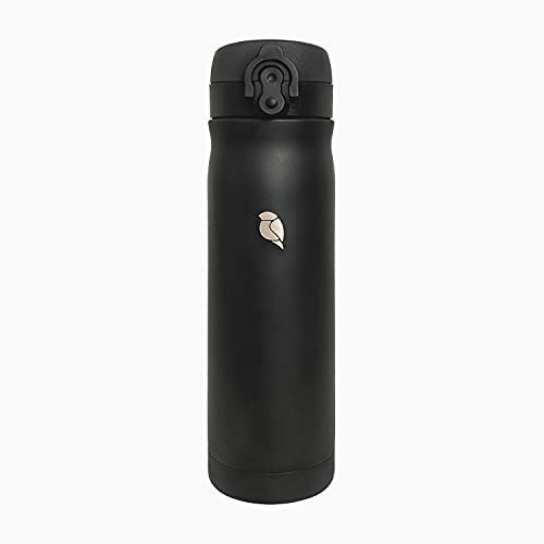 Sand Lark Termo negro – Acero inoxidable – Taza de café para llevar 500 ml – Termo de viaje – a prueba de fugas – Taza de viaje – Botella térmica de 0,5 L