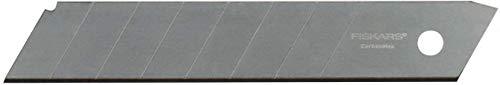 Fiskars Abbrechklingen, Für Fiskars Cuttermesser, 18mm, Rostfreier Stahl, 10er Pack, CarbonMax, 1048066