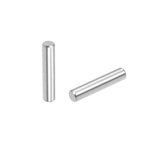 uxcell 50Pcs 4mm x 20mm Dowel Pin 304 Stainless Steel Shelf Pegs Support Shelves Silver Tone