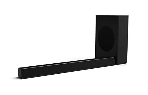 Philips Bluetooth Soundbar HTL3310/10 TV Soundbar (Bluetooth, Kabelloser Subwoofer, 160 W) Schwarz