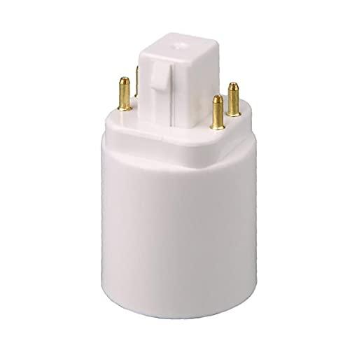 FeelMeet Adaptador de la lámpara de luz GX24Q-E27 Titular de la Bombilla Convertidor de zócalo 4 Pindust Impermeable, Alta Temperatura Resistente y Duradero