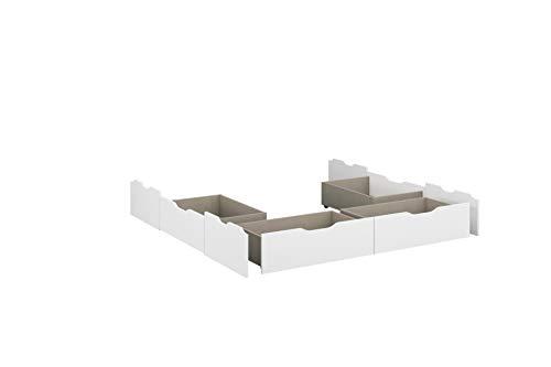 Rauch Möbel Ryba bed-onderbouw bed-lades in wit, voor bed Ryba met ligoppervlak 180x200 cm