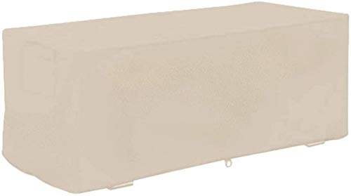 lquide Garden Storage Box Cover, Patio Deck Box Cover Waterproof Foldable 210D Oxford Fabric Outdoor Furniture Cover,Beige,158x76x69cm