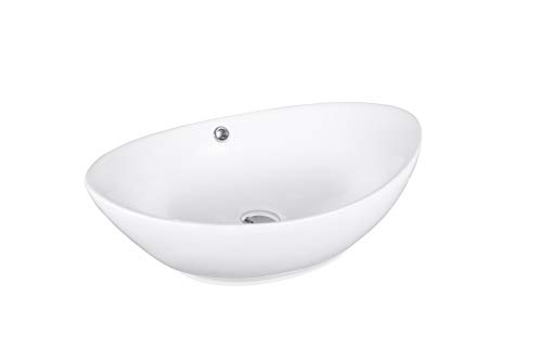 Ovales Design Keramik Aufsatz Waschbecken/Waschschale Modell 16