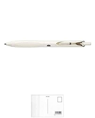 コクヨ ボールペン KOKUYO ME (標準ゲル黒・0.5mm 軸色:白) 【× 2 本 】 + 画材屋ドットコム ポストカードA