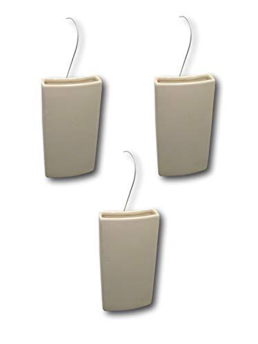 Best-Accessoires4All Keramik Luftbefeuchter Wasserverdunster für Heizung Heizkörper Verdunster Flachverdunster Weiss, 3er Set, 20 x 10 x 4 cm