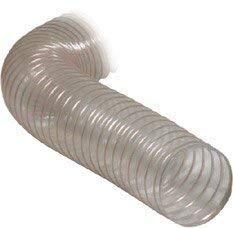 Tubo di aspirazione trasparente - diametro: 100mm - larghezza 2,5m - accessori per impianti di aspirazione