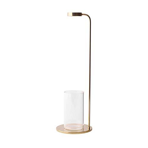 Menu Vase Soliflore Stem Cristal et Laiton H 32 Diam 10 cm
