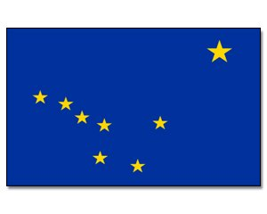 Alaska Flagge Fahne 60 * 90 cm