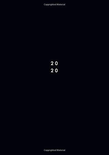 2020: Agenda 2020 giornaliera 2 pagine per giorno 21x29,7 cm A4, italiano, colore: nero