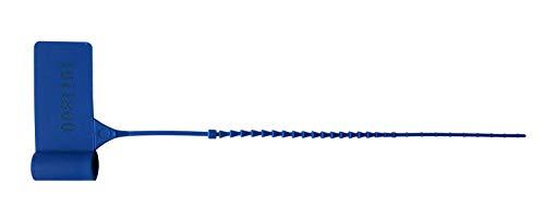 Precintos Seguridad de Plástico Tipo Brida Ajustable de Ø 1.3 mm x 127 mm de Largo (1000 unidades) Azules