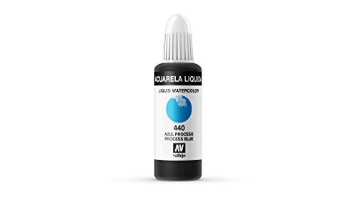 Vallejo - Acuarela líquida 32ml, color azul proceso