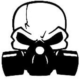 Gas Mask Skull Decal Vinyl Sticker Cars Trucks Vans Walls Laptop BLACK 5.5 in CCI387