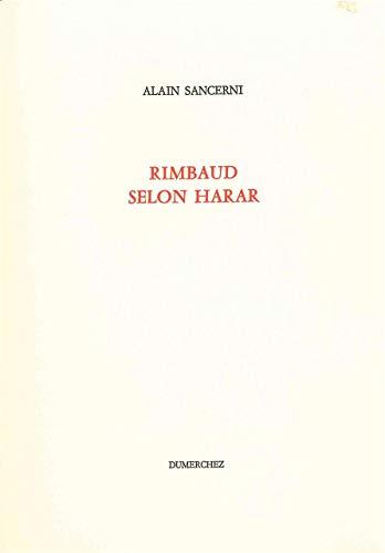 Rimbaud selon Harar