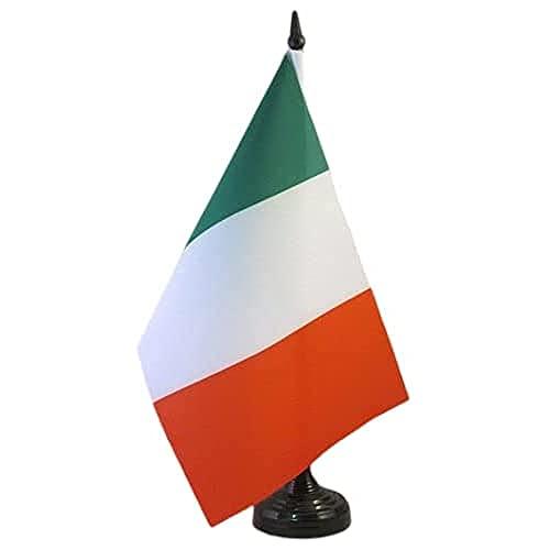 AZ FLAG Drapeau de Table Italie 21x14cm - Petit Drapeaux DE Bureau Italien 14 x 21 cm