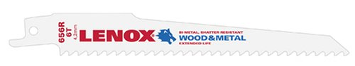 Lenox 6 in. Bi-Metal Reciprocating Saw Blade 6 TPI 25 pk