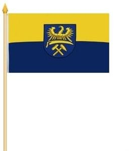 Stockfahne Oberschlesien Fahne Flagge Grösse 30x40cm - FRIP –Versand®
