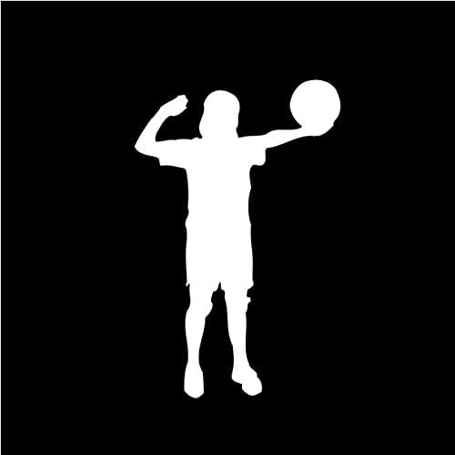erjhvbshjdklffg 5 Piezas 9,1 * 14,1 cm Jugador de Voleibol de Playa calcomanía decoración Coche Pegatina Vinilo Silueta Motocicleta Pegatina para Parachoques