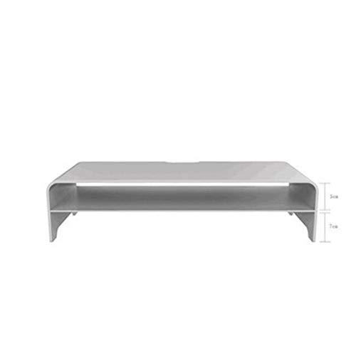 LUHUANONG Soporte de Monitor de Aluminio, Riser Computer Universal Metal Sket Base de hasta 27 Pulgadas Pantallas para PC, Laptop, MacBook (Color : 2 Tiers Small Silver)