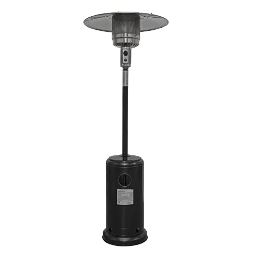 Dellonda Freestanding Gas Patio Heater 13kW for Commercial & Domestic Use, Black - DG1