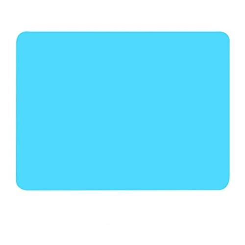 40 * 30 cm Silikon Backmatte Non Stick Pan Liner Tischset Tischschutz Küche Gebäck Backformen Matte Ofen Wärmedämmung Pad (Color : Blue)