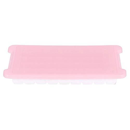 Zelfgemaakte ijsvorm, ijsblokjesvorm Kleine ijsbak DIY-ijsblokjesmaker met deksel Keuken ijsvormbak Home Tools(Roze)