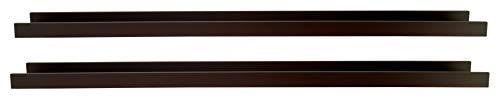 Kiera Grace Modern Floating-Shelves, Set of 2, Espresso