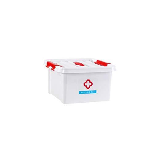 Hausapotheke Aufbewahrungsbox mehrschichtige medizinische Box tragbare Medizinbox Kunststoff Erste-Hilfe-Kasten 28,5 × 28,5 × 16 cm WGLGL (Color : White)
