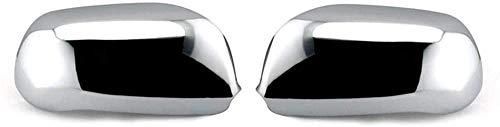ZHAOOP Cubierta del Espejo del Coche Cubierta del Espejo retrovisor Cubierta cromada del Espejo Lateral Ajuste, para, para Audi A6 S6 C4 C5 A8 S8 D2 Cubierta del Espejo (Color: Chrome) - Cromo
