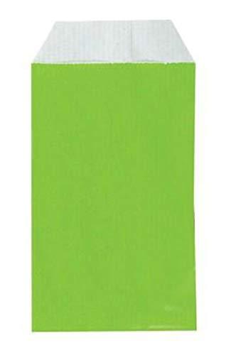 Yearol K04V. 250 Sobres bolsas de papel kraft pequeñas sin asas. Especial para regalo, tiendas, comercio, joyería, bisutería, manualidades, etc. 7 cm. x 12 cm. 60 gr/m. (Verde)