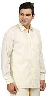 RAMRAJ Mens Cotton Full Cream Shirt