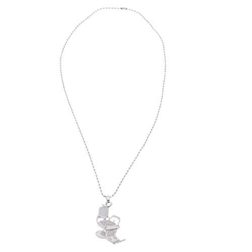 MERIGLARE Eleganter Friseurstuhl Anhänger Pullover Kleidung Kette Halskette Für Friseur