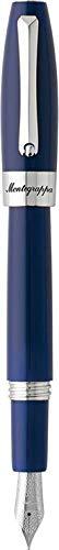 Montegrappa Fortuna - Pluma estilográfica (plumín mediano), color azul