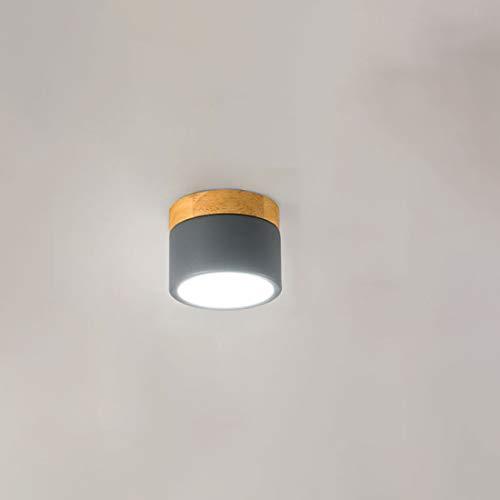 Helele Plafondlamp van hout, acryl, led voor kamerplafond, moderne lamp met heldere, witte armen voor binnenverlichting, warmwit