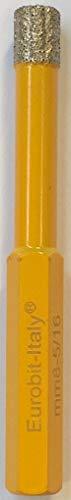 Eurobit frasen broca con diamante Corona rígida especialmente Adecuado para la perforación de baldosas, Rígida porcelanato, cerámica, trockem Interfaz, 1pieza, 6mm, 500000000600