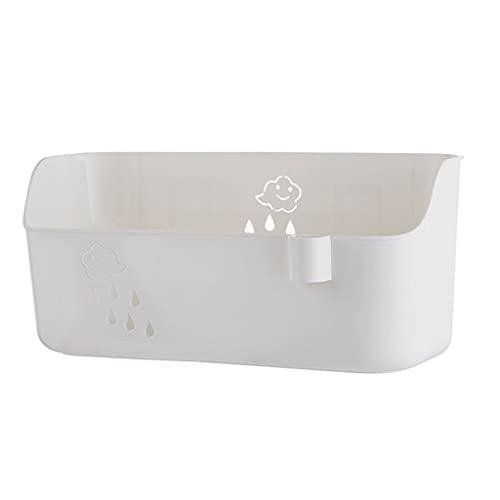 GDSMTG Baño Ducha Caddy Organizador Adhesivo Cocina Almacenamiento Estante Ducha Ducha Estantes Cesta Bandeja De múltiples Fines (Color : White)