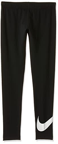 NIKE G NSW Favorites Swsh Tight Pantalones de Deporte, Niñas, Black/(White) (c/O), M