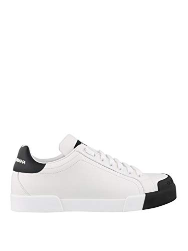 Moda Dolce E Gabbana Hombre CS1802AW11389697 Blanco Cuero Zapatillas | Otoño-Invierno 20