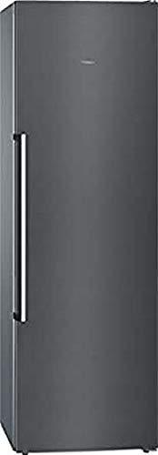 Congelador vertical - Siemens GS36NAX3P, 242 L, No Frost, 186 cm, Clase A++, Inox negro antihuellas