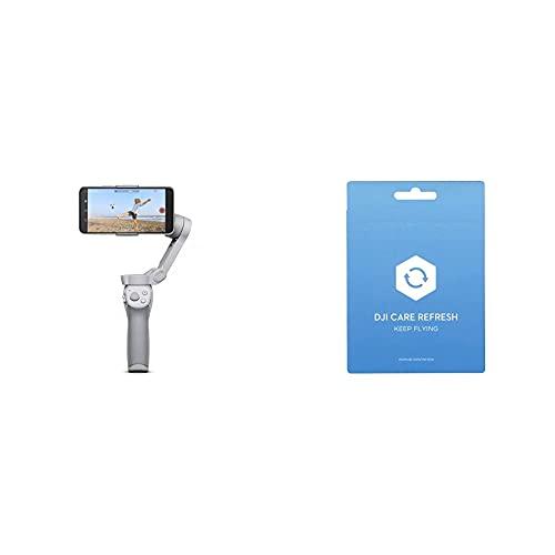 DJI OM 4 - Stabilizzatore a 3 Assi per Smartphone + DJIOM4CARE - Care Refresh
