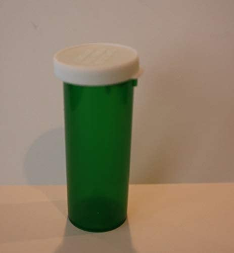 Plastic Prescription Ranking TOP11 Green Vials All items free shipping Bottles w Pack Non-CHILDPROO 25