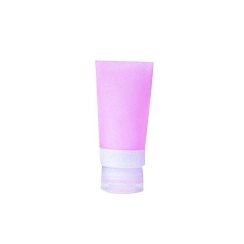 Livecity, leere Silikon-Reisetube, ideal zum Einfüllen von Shampoo / Lotion / Kosmetik, rose, 38ML